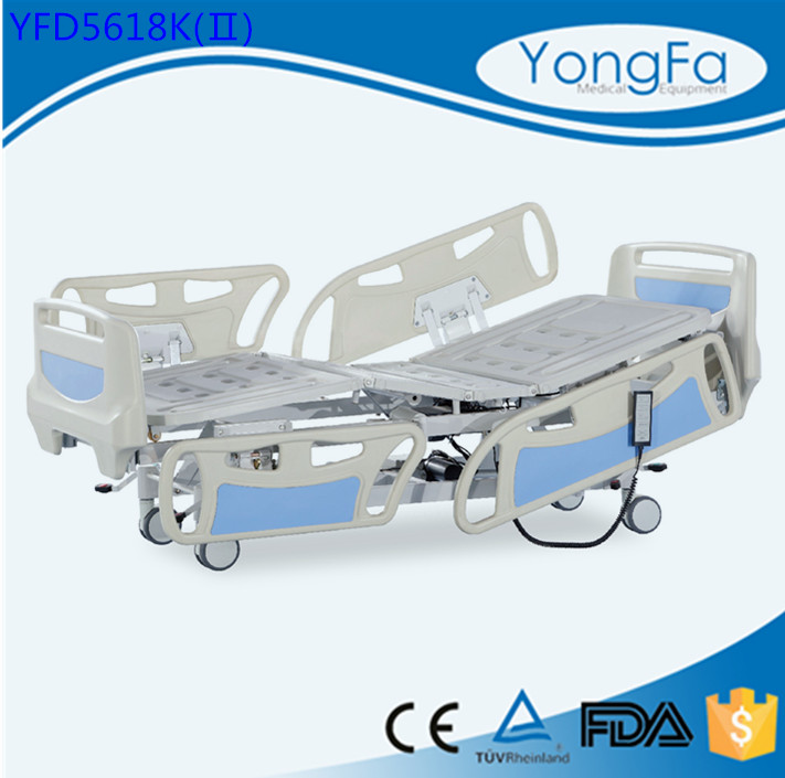 ISO13485 certification Hospital IV Stand electric bed remote control wooden slats bed frame