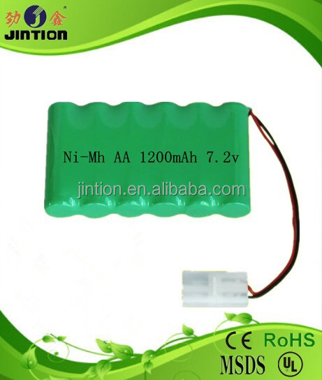 NiMh AA 1200mAh 7.2v rechargeable battery packs