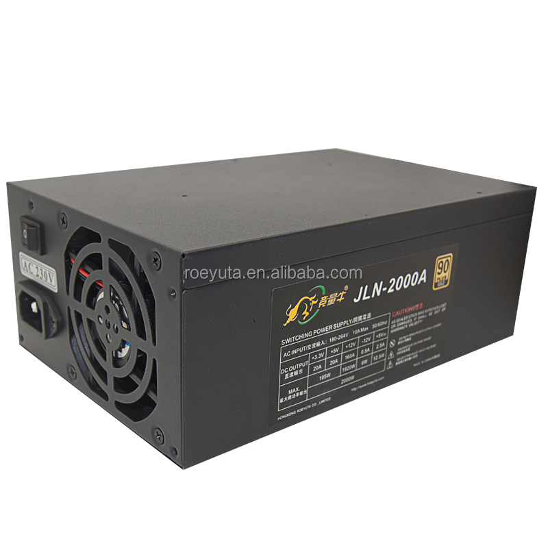 rx 580 For eth rig gpu mining psu 2000w power supply