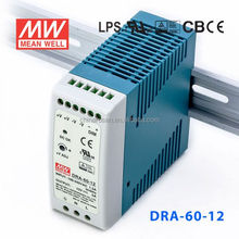 ORIGINAL Meanwell DRA-60-12 60W 12V/5A AC-DC Output Voltage adjustable Single DIN Rail Switch Power Supply
