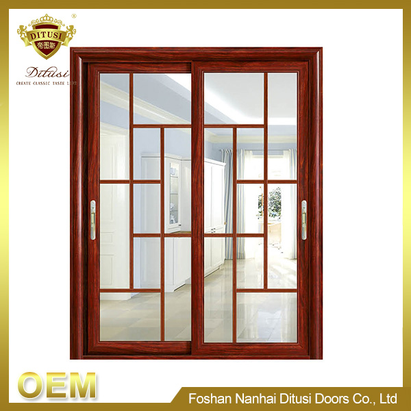 2017 New aluminum hanging sliding glass door for balcony TL-3086