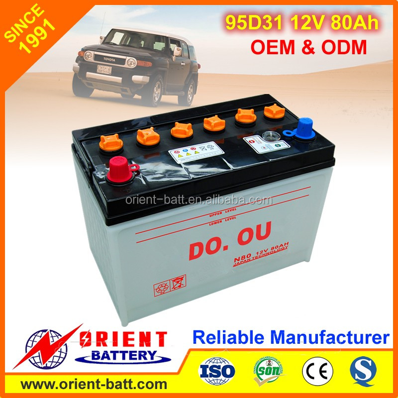 Best Selling Supreme Quality JIS N70 dry cell car battery 12V70Ah