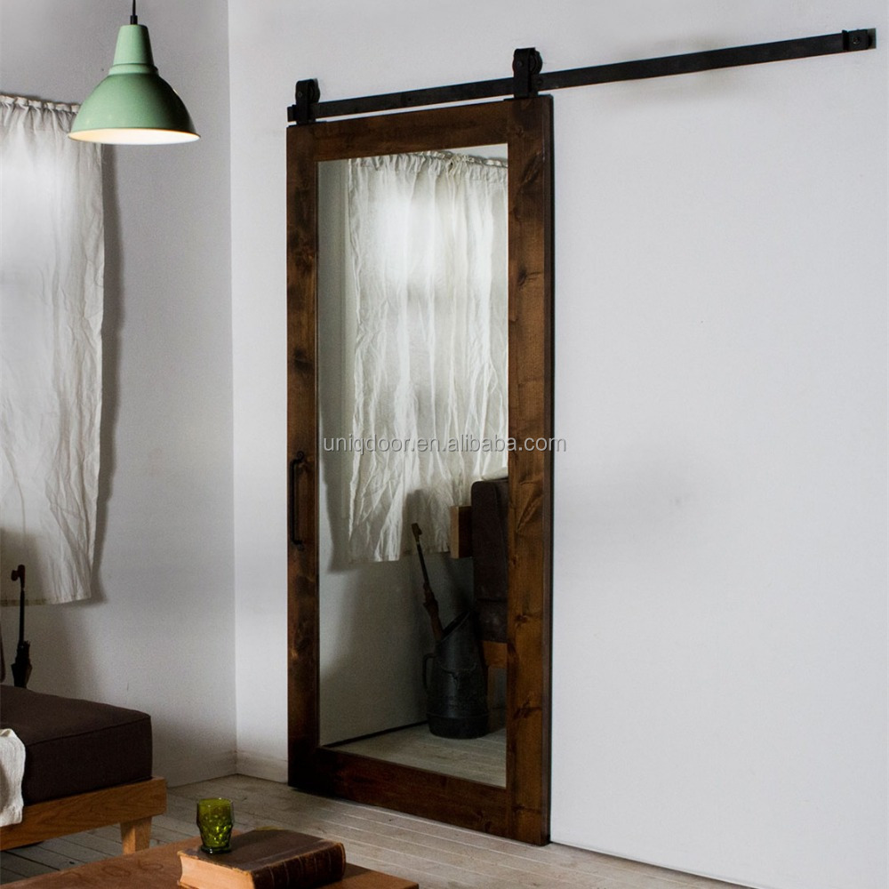 Prefinished home mirror modern sliding barn doors