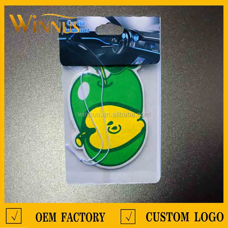 top quality differ package green apple car air freshener