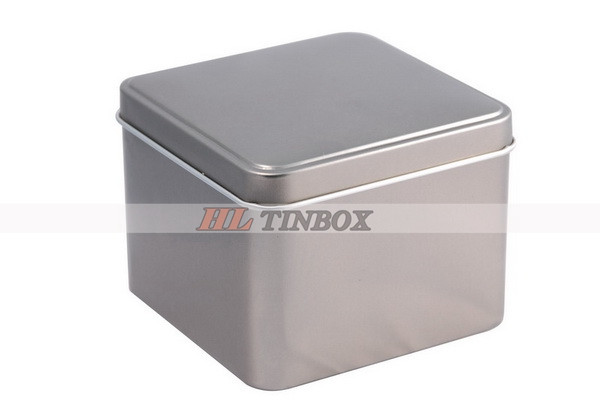 Square Custom Tin Can with Signal Lid