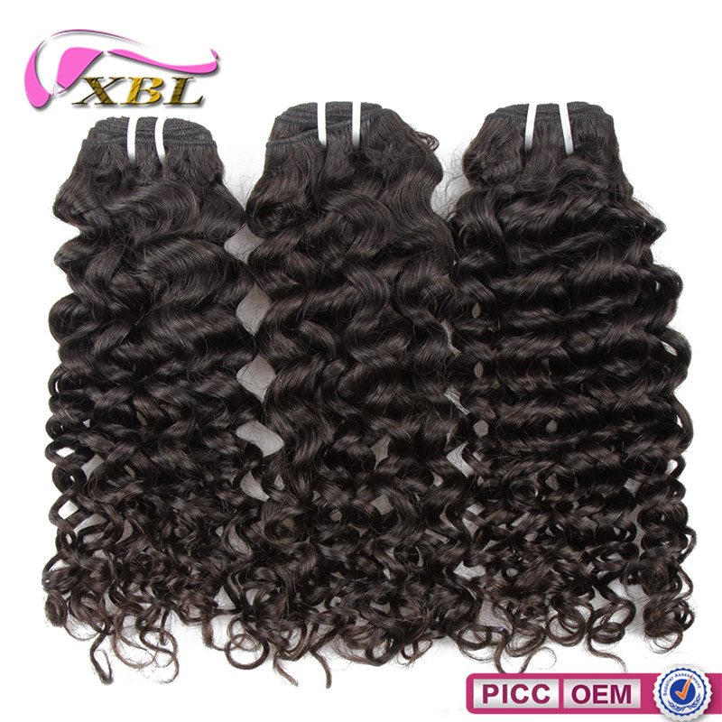 XBL 8a jerry curl brazilian human hair extension, brazilian curl remy hair weave