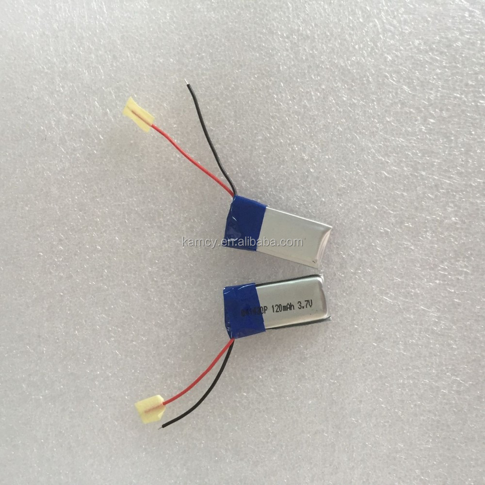 small Lipo battery 401430P Lithium polymer battery 120mAh 3.7v size 041430P for medical facility