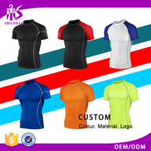 2017 Guangzhou Shandao Summer Round Neck Short Sleeve 180g 95 Cotton 5 Spandex Custom Mens Gym Fitness Bodybuilding T Shirt