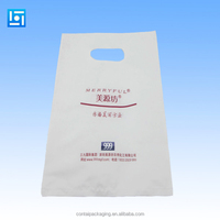 2015 factory supply directly plastic die cut bag/plastic bag for shopping/pa/pe plastic bag