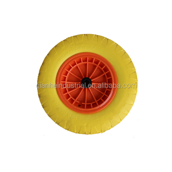 heavy duty plastic wheelbarrow PU tire 4.00-8