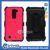 Strong mobile phone Hard Shell brushed kickstand case for LG K10 with front screen film