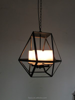 Nordic popular edison bulb vintage industrial Iron fortress pendant candle light