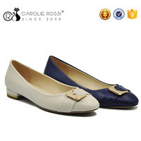 Wholesale low price ladies loafer shoes rubber sole women flat shoes