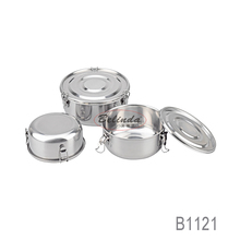 Silicon Seal Lip Stainless Steel Round Shape Wholesale Airtight Containers for Storage Food