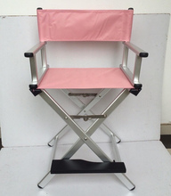2016 new color rosegold aluminum finish cheap folding makeup chair director chair beach chair