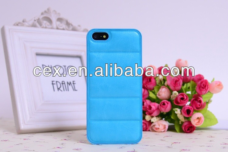 High Quality Special Sofa PU Leather with PC Plastic Hard Back Cover Case For Apple iPhone 5 5S