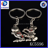 The funny gift two animals play basketball metal keychain
