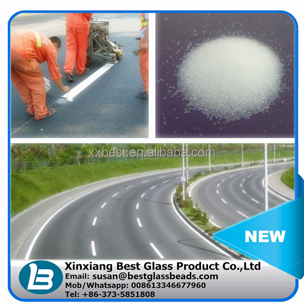 Pavement marking materials AASHTO type road marking glass beads microsphere