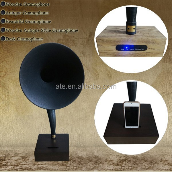Europe type decorative gramophone wooden gramophone with bluetooth