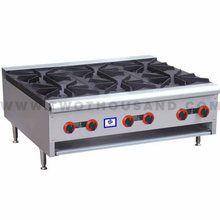 TT-WE1382C 6 Burners Commercial Kitchen Lpg Gas Rang Cooking Stove