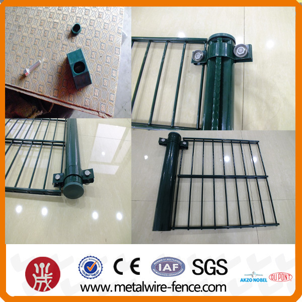 ISO9001 Powder coated 8/6/8 Double Wire Mesh Fencing (Manufacture)