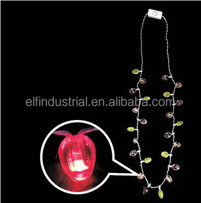 Kids Gift Battery Promotion Party Led Necklace, Light Up Party Decoration Plastic Led Necklace, Easter Egg Necklace