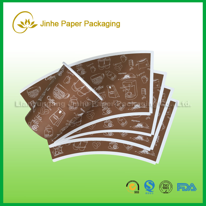 Food grade offset/flexo printing indonesia pe coated paper cup fans