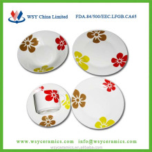 20pcs flower design printing turkish dinnerware set porcelain, microwave&dishwasher and oven safe test approved