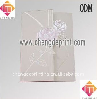 Rose Wedding Invitation Card Plain Surface Wedding Card