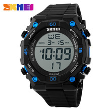 Multi function luminous big display screen promotional wholesale outdoor sport wrist watch