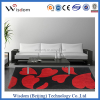 Plain red polyester Carpets and rugs