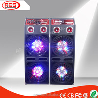 Best vibration dual 10 inch subwoofer flash light speaker box stereo surround satge speaker