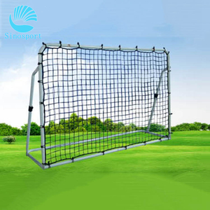 Customized Steel Pipe Soccer Goal PE Knotted Material football net