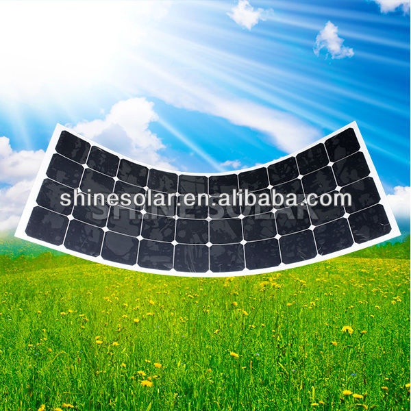Back contact semi flexible solar cell TUV approval 120w