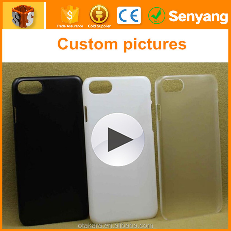 Custom Design Logo Print Wholesale PC Transparent Clear Blank Cell Phone Case For Iphone 7