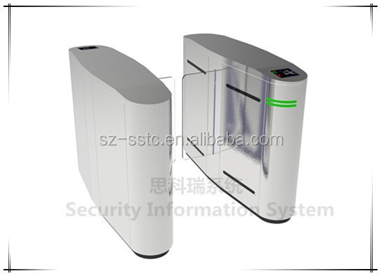 China manufacturer secure automatic flap barrier gate with fingerprint identification