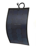 Waterproof Sunpower cell 100W ETFE Black Fiberglass Semi-Flexible Monocrystalline Solar Panel