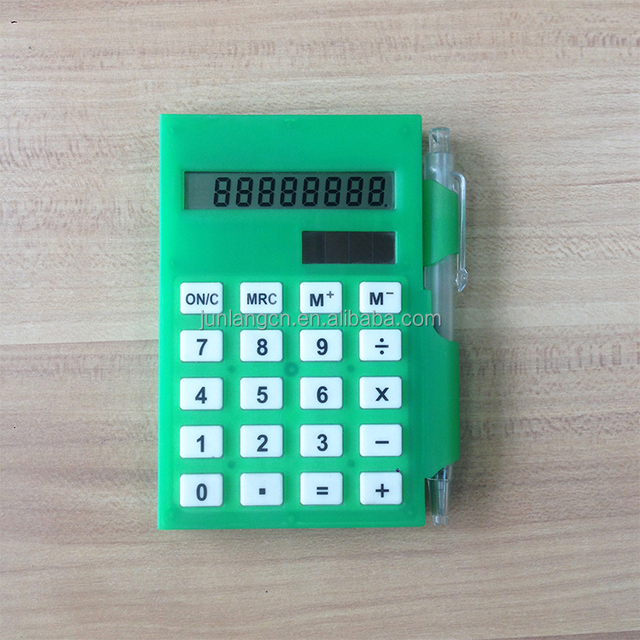 8 Digits Notepad Pocket Calculator mini calculator with a Pen