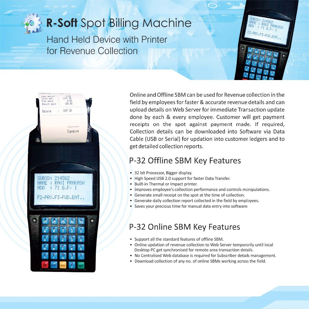 R-Soft Spot Billing Machine