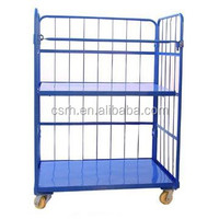 3 Sides Powder Coted Folding Pallet Logistic Trolley