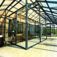 Price of new design promotional glass houses/aluminum sunroom
