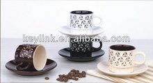 High quality ceramic acf cup saucer
