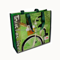 custom OEM logo colorful CMYK gravure printing promotion tote shopping reusable eco non woven laminated bag