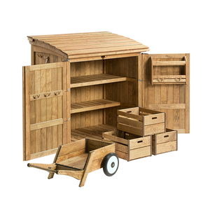 Kindergarten Outdoor Wooden Montessori Furniture Playground Wooden Storage Shed For Kids