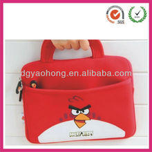 2017 newest hot sale cute bird heat transfer neoprene kids laptop case bag
