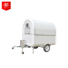 fabricant remorque snack cart, electric vehicle mini caravan fast food truck, mobile catering van for fast food