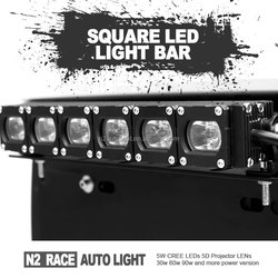 New Square 5D led bar light 120w 180w 240w 288w 300w curved ones double row led work light bar