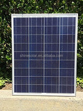high efficiency 80w poly pv solar panel A great cells with TUV IEC CE