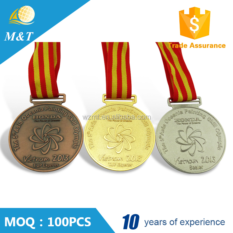 Custom sports souvenir metal medal with customized logo China manufacturer