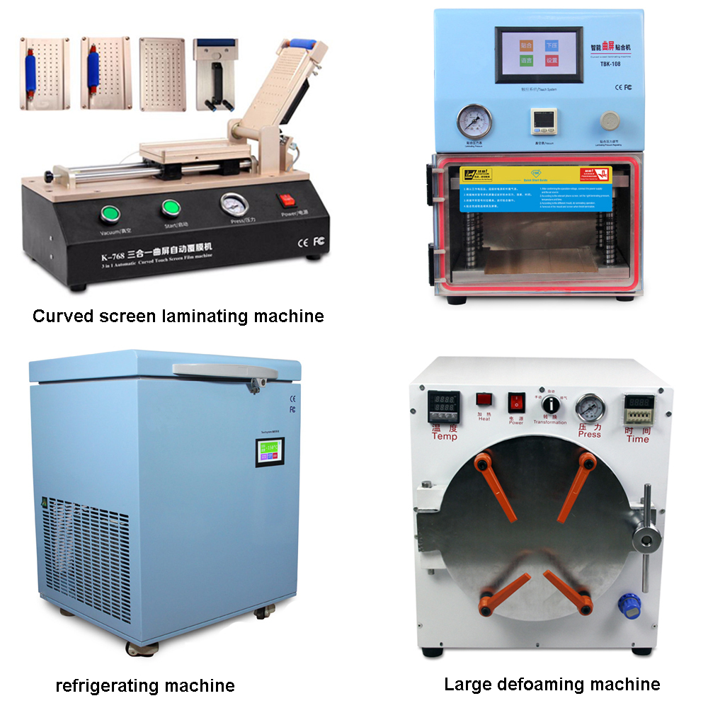 Lcd Refurbish Machines kit, TBK 908 5 in 1 LCD repair separate machine ,TBK 761 TBK 408 Laminating machine for s8 edge